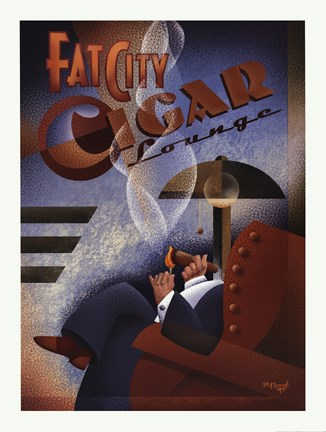 Fat City Cigar Lounge Fine Art Print By Michael Kungl At