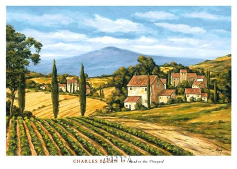 Framed Road to the Vineyard Print
