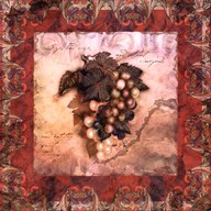Tuscany Grapes Art