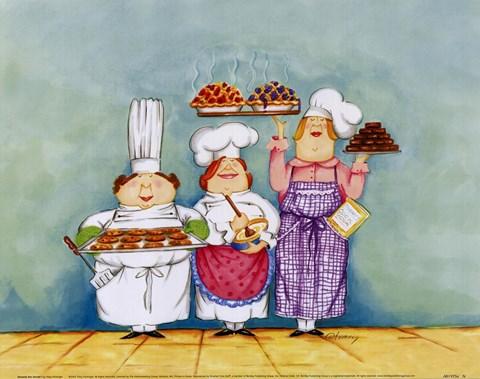 Desserts are served i fine art print by tracy flickinger - Dessin cuisinier humoristique ...