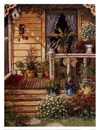 Framed Summer Front Porch Print