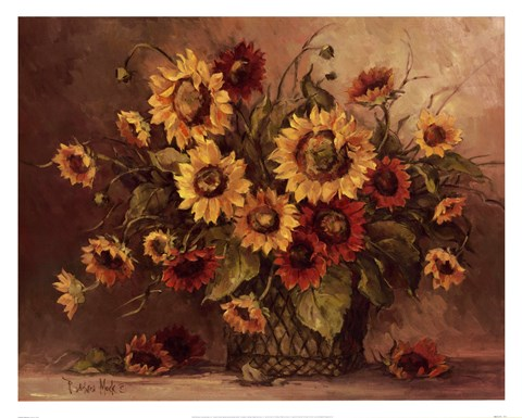 Framed Sunflower Bouquet Print