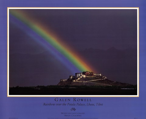 Rainbow Over The Potala Palace Fine Art Print By Galen