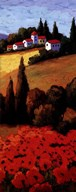 Tuscan Poppies Panel II Art