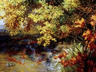 Creek And Fall Trees  Fine Art Print