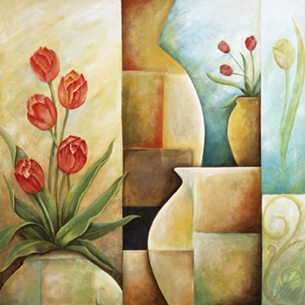 Framed Contempo Tulips II Print