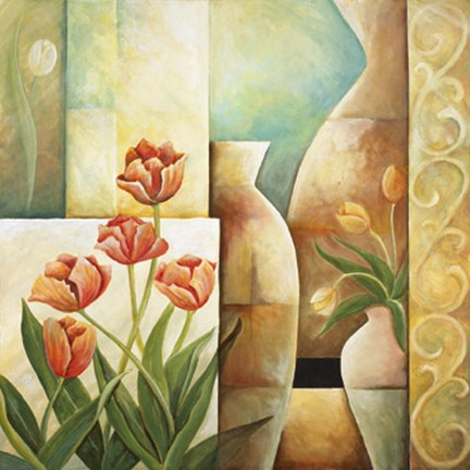 Framed Contempo Tulips III Print
