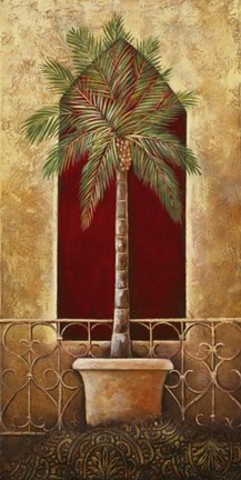 Framed Red Palm II Print