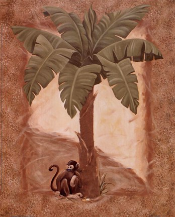 Framed Monkey Palm II Print