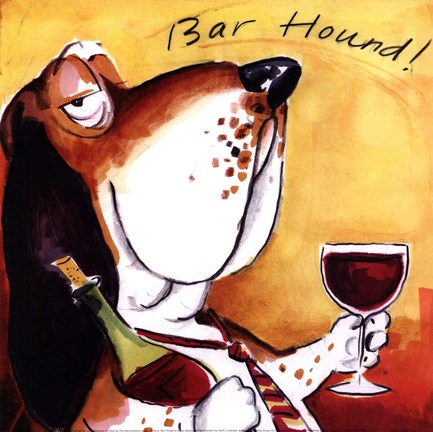 Framed Bar Hound Print