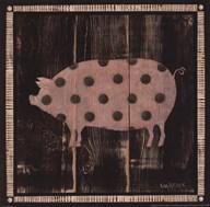Polka Pig IV  Fine Art Print