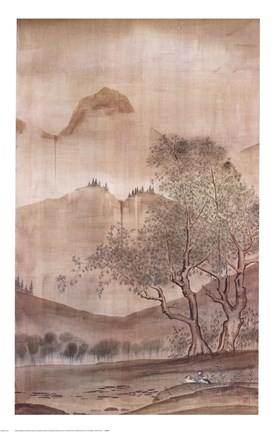 Framed Land of the Pagoda II Print