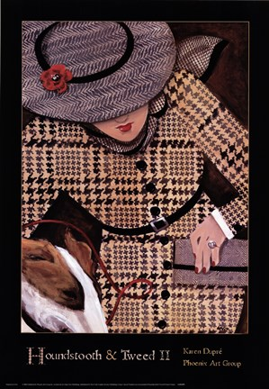 Framed Houndstooth and Tweed II Print