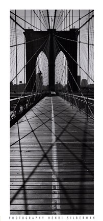Framed Across the Brooklyn Bridge Print