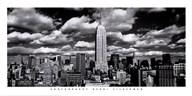 New York, New York, Clouds Over Manhattan  Fine Art Print