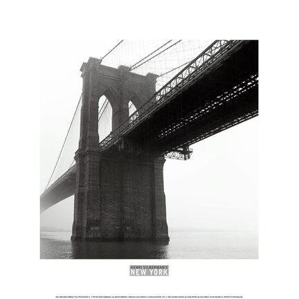 Framed Brooklyn Bridge Fog Print
