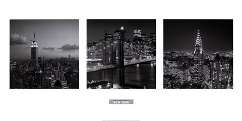 Framed Views of New York I Print