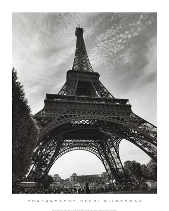 Framed La Tour Eiffel, Paris - under Print
