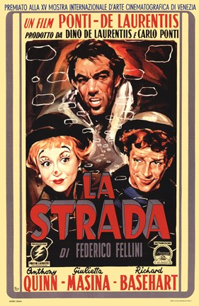 Framed La Strada Film In Italian Print