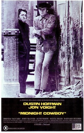 Framed Midnight Cowboy - Dustin Hoffman Print
