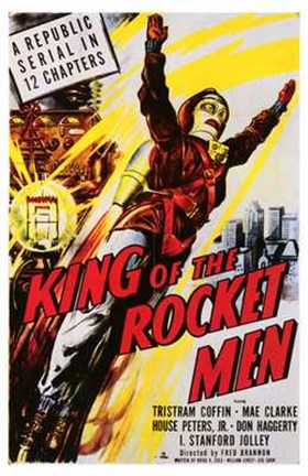 Framed King of the Rocket Men Coffin And Clarke Print