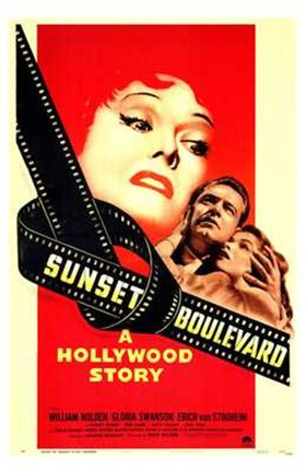 Framed Sunset Boulevard A Hollywood Story Print