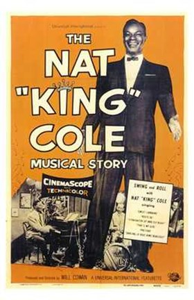 Framed Nat King Cole Musical Story Print
