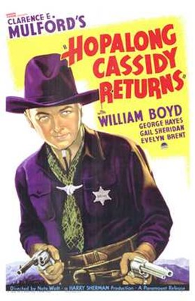 Framed Hopalong Cassidy Returns Print