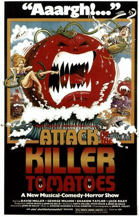 Framed Attack of the Killer Tomatoes Print