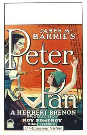 Framed Peter Pan Book by James M. Barrie Print