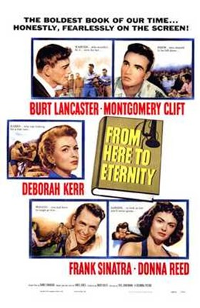 Framed from Here to Eternity - characters Print