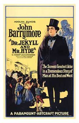 Framed Dr Jekyll and Mr Hyde by Barrymore Print