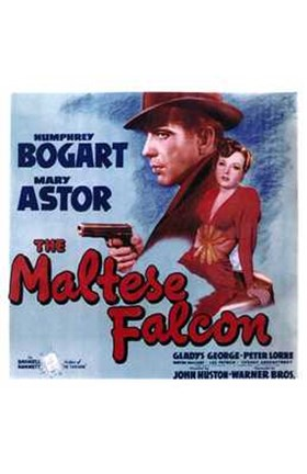 Framed Maltese Falcon Mary Astor Humphrey Bogart Print
