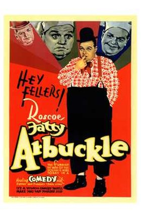Framed Fatty Arbuckle Print
