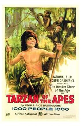 Framed Tarzan of the Apes, c.1917 - style A Print