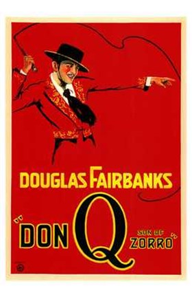 Framed Don Q Son of Zorro Red With Douglas Fairbanks Print