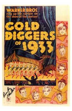 Framed Gold Diggers of 1933 Print