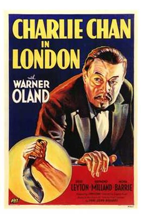 Framed Charlie Chan in London Print