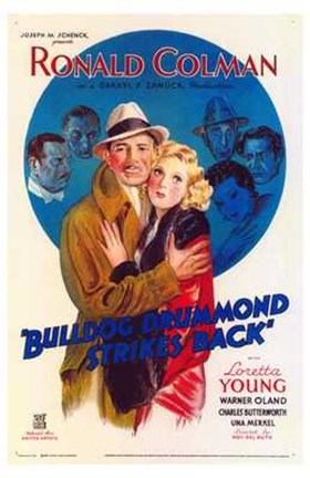 Framed Bulldog Drummond Strikes Back Print