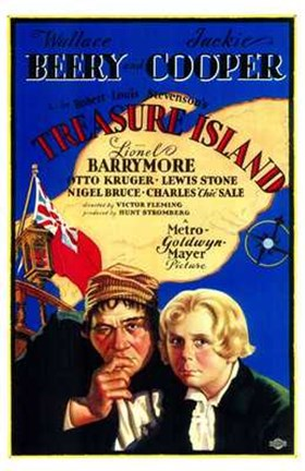 Framed Treasure Island movie poster (characters) Print