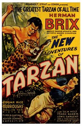 Framed New Adventures of Tarzan, c.1935 - style A Print