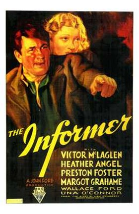 Framed Informer McLaglen And Angel Print