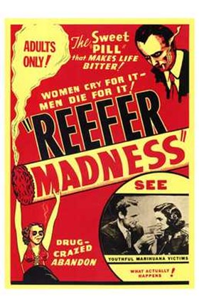 Framed Reefer Madness The Sweet Pill Print