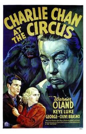 Framed Charlie Chan At the Circus Print