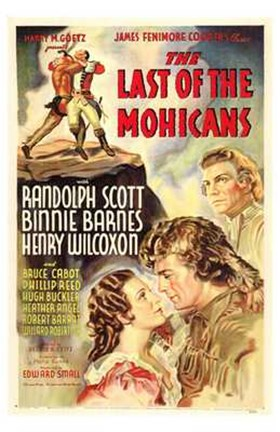 Framed Last of the Mohicans - tall Print