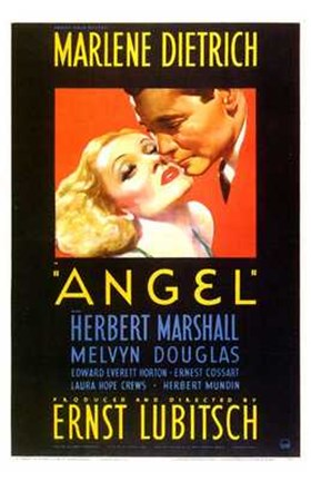 Framed Angel Marlene Dietrich - couple Print