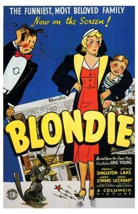 Framed Blondie Print