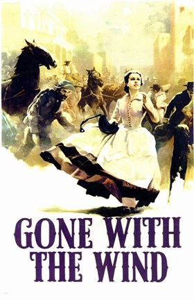Framed Gone with the Wind - Running Print