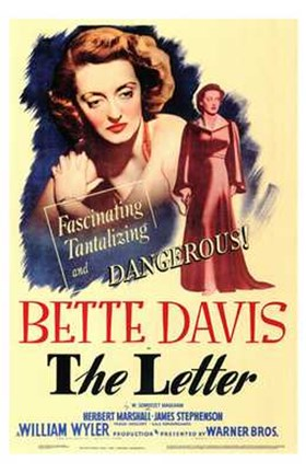 Framed Letter Bette Davis Print