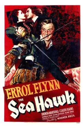 Framed Sea Hawk Errol Flynn Print